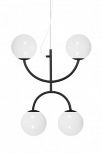 Lampa LUNA X, czarna, ∅49x60cm   Globen Lighting
