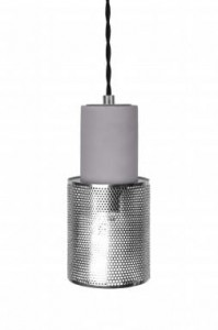 Lampa MINI RUMBLE srebrna, ∅10x20cm  Globen Lighting