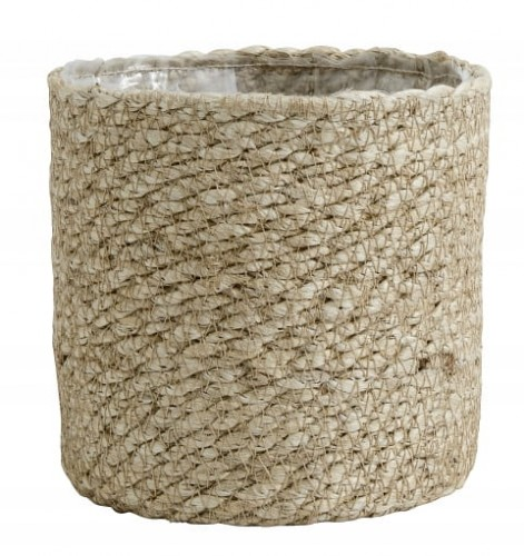 Donica JUTE S, ∅14x14cm, naturalny Nordal